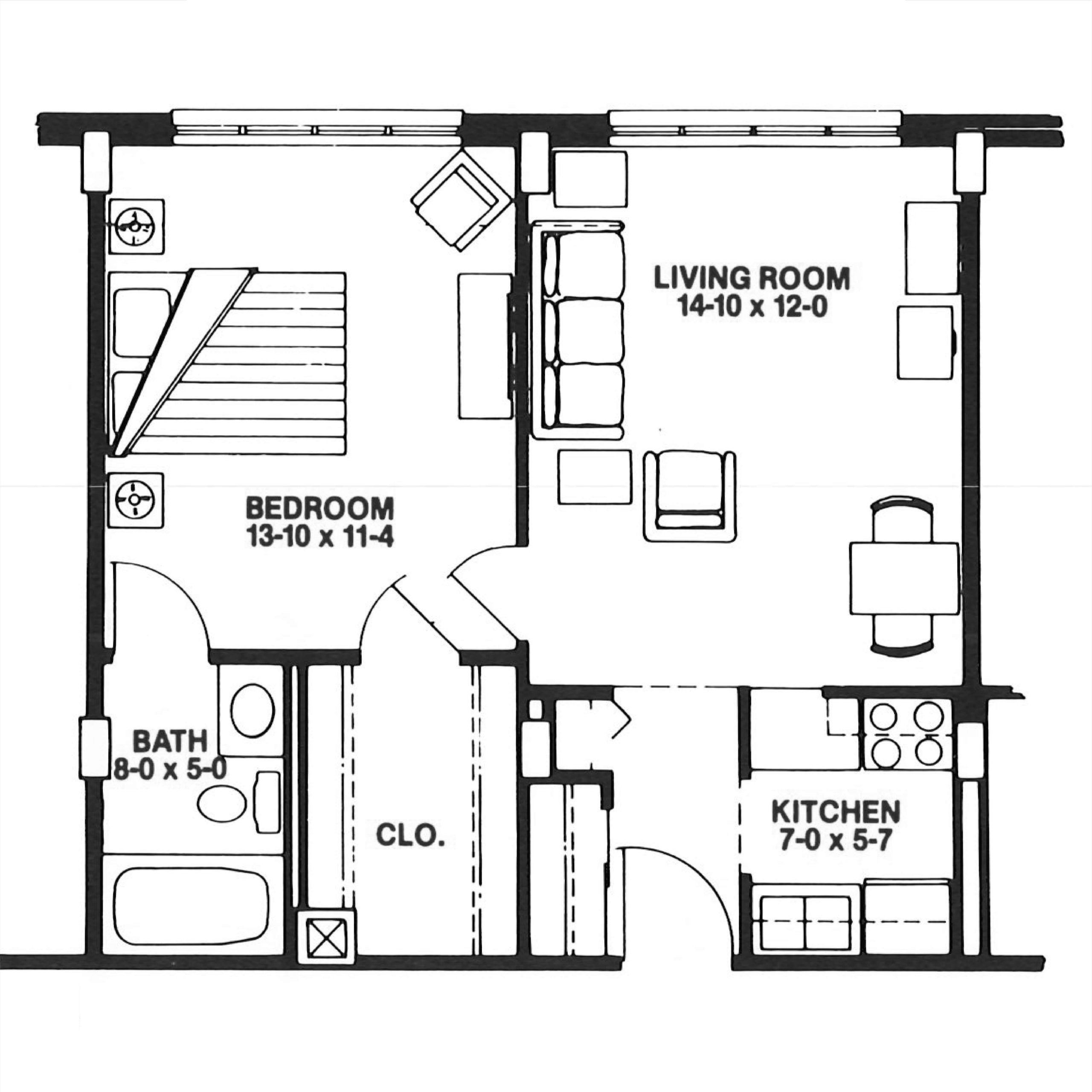 Azalea floor plan blueprint