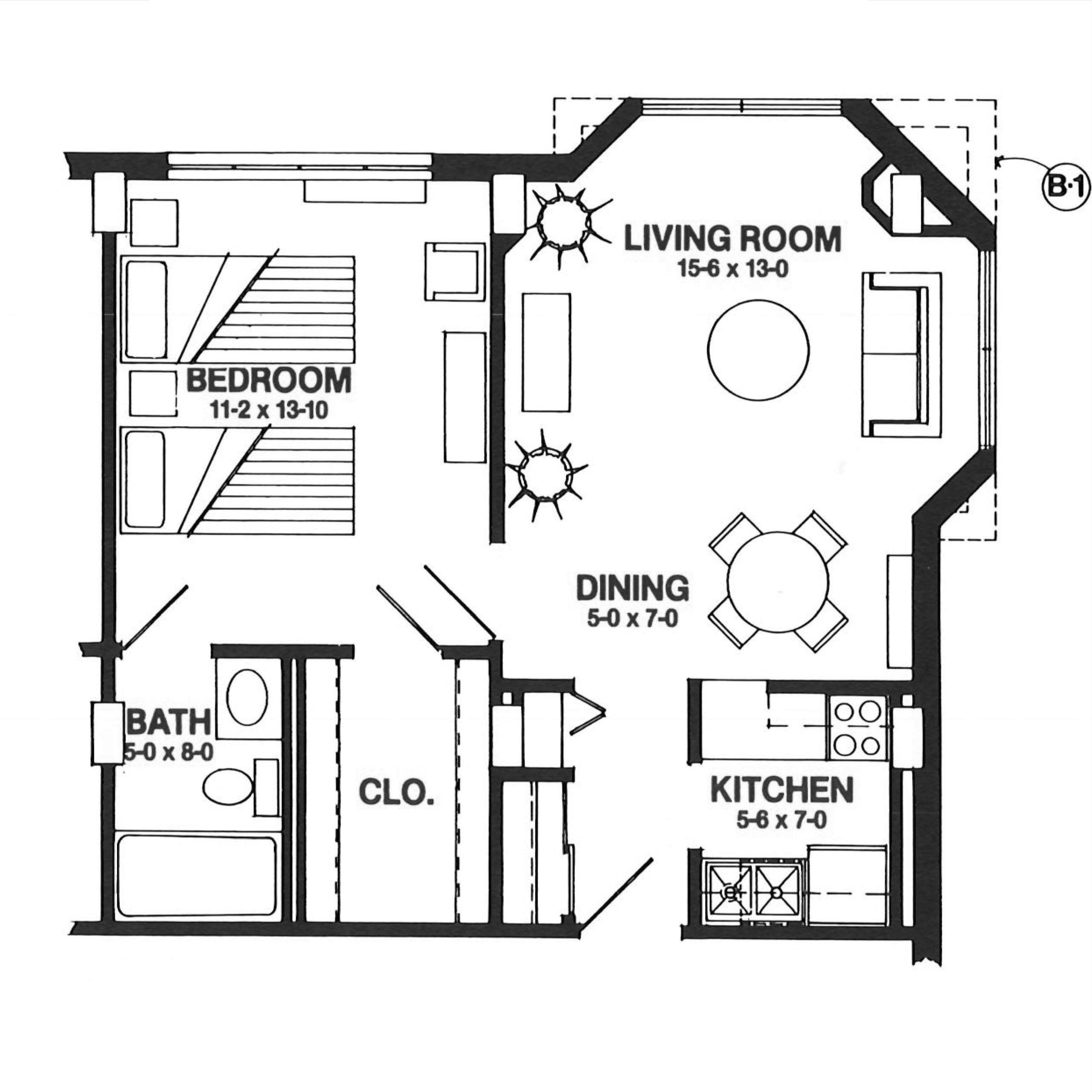 The Belle floor plan blueprint