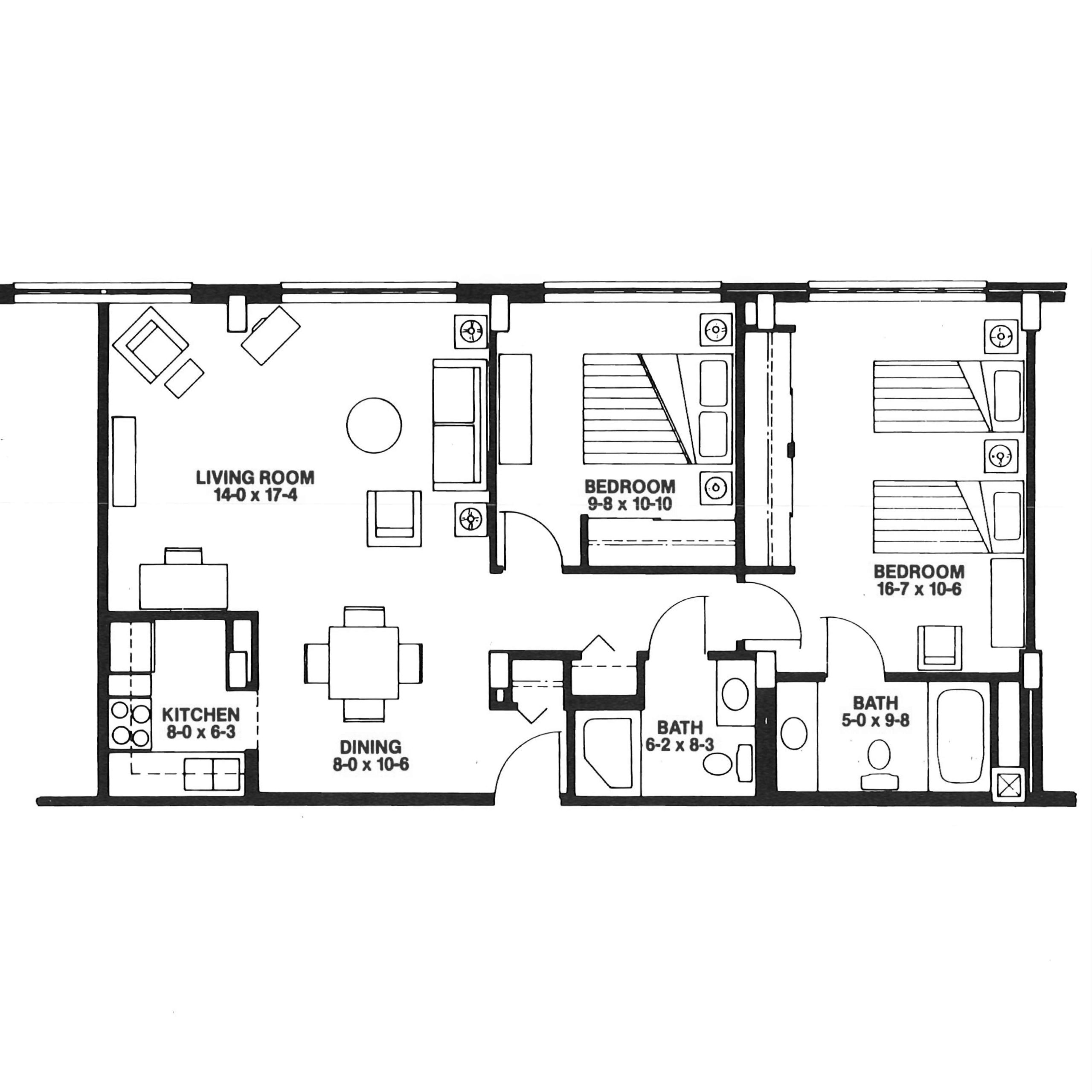 The Garvin floor plan blueprint