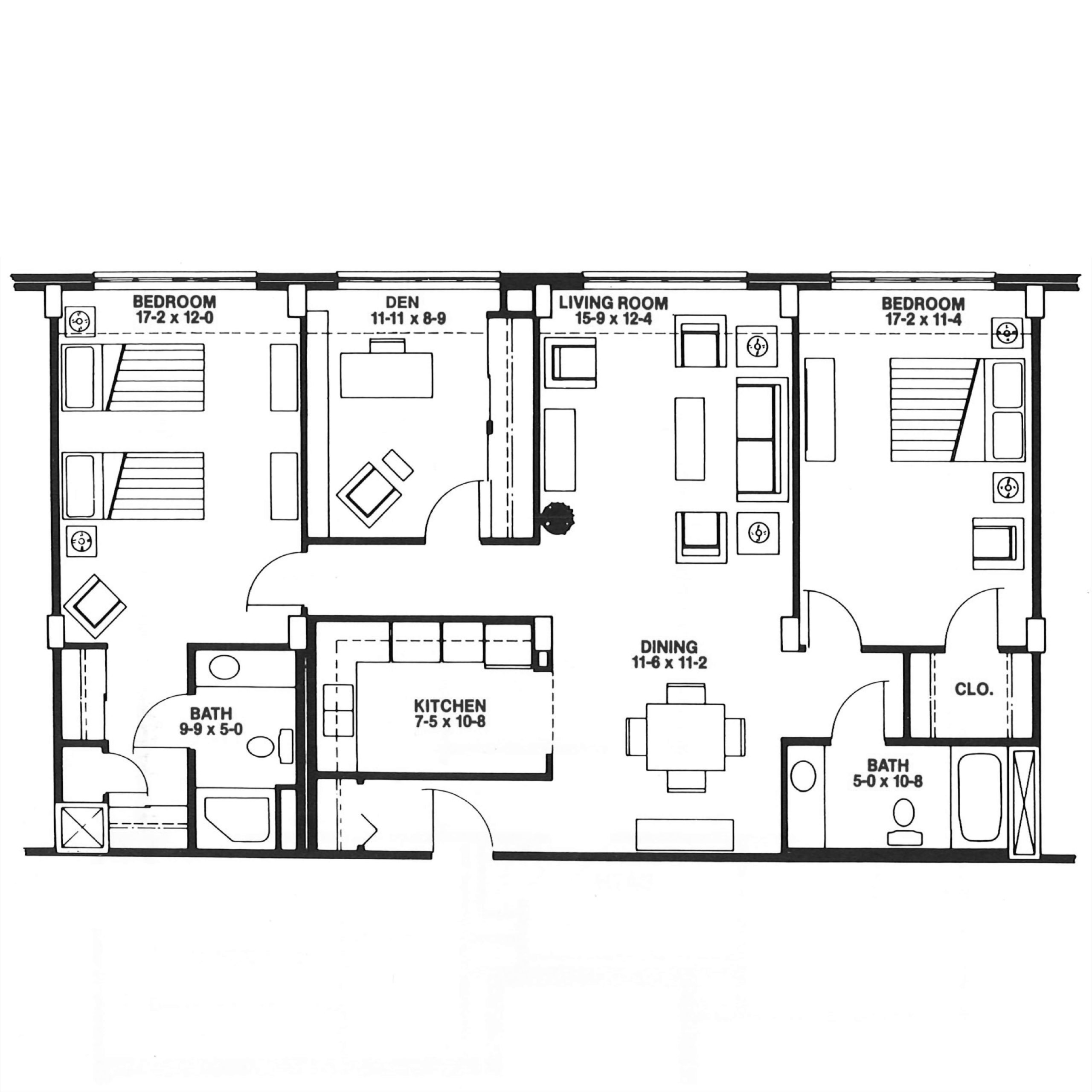 The Parkview floor plan blueprint