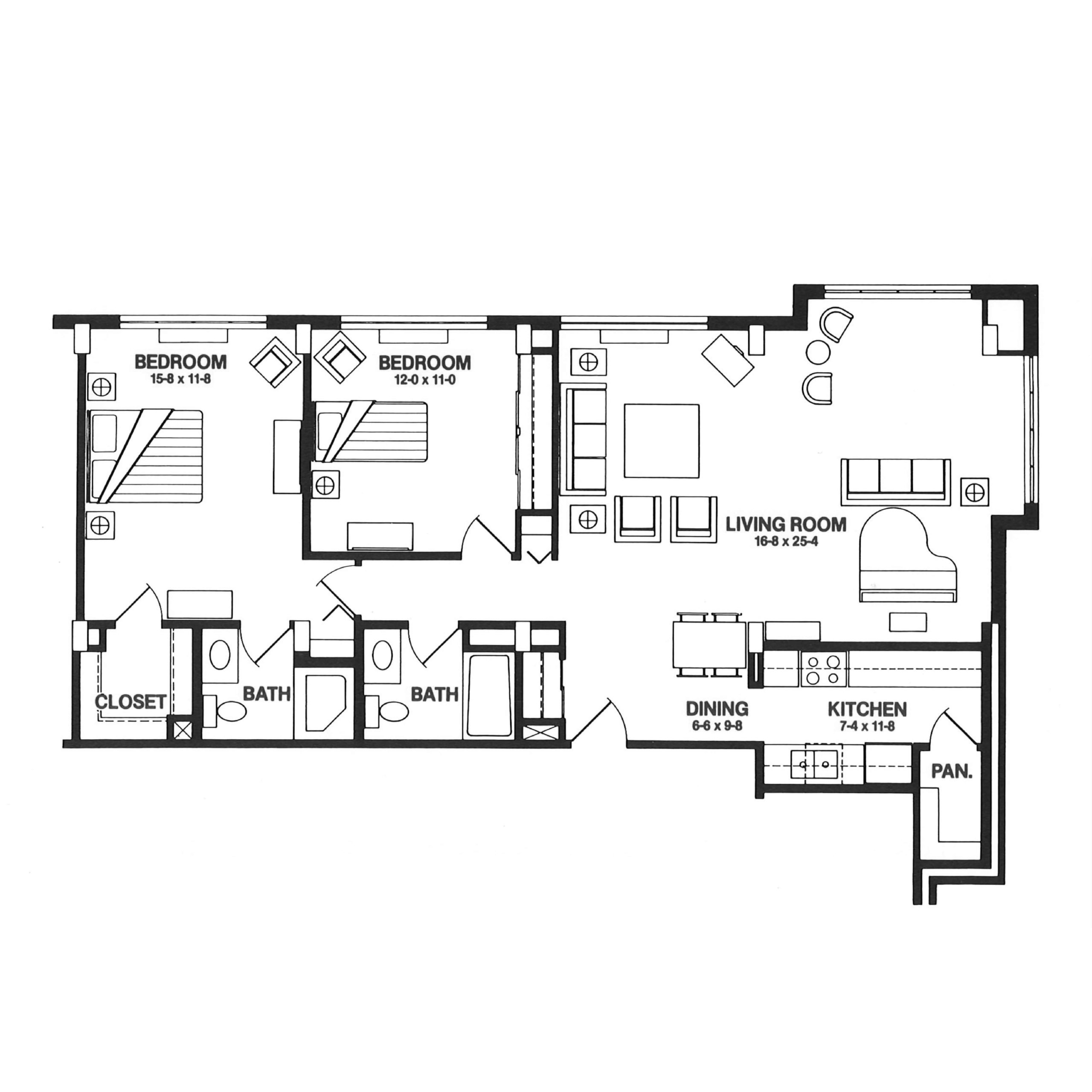 The Spires floor plan blueprint